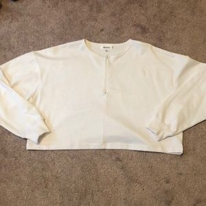 Missguided Cropped Half Zip Sweater